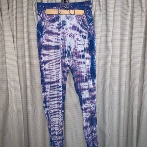 Purple & Blue Tie-Dye Joggers